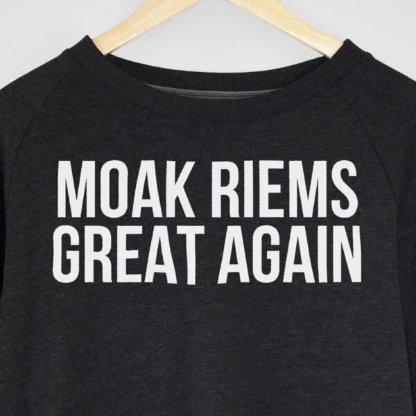shop webshop webwinkel unieke sweatshirts mcsnooze shirts custom shirts for custom people moak riems great again sweatshirt